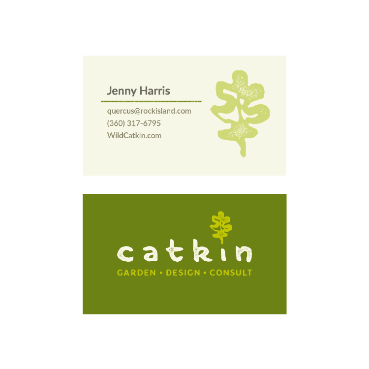 catkin business card - Garden Design Business Cards