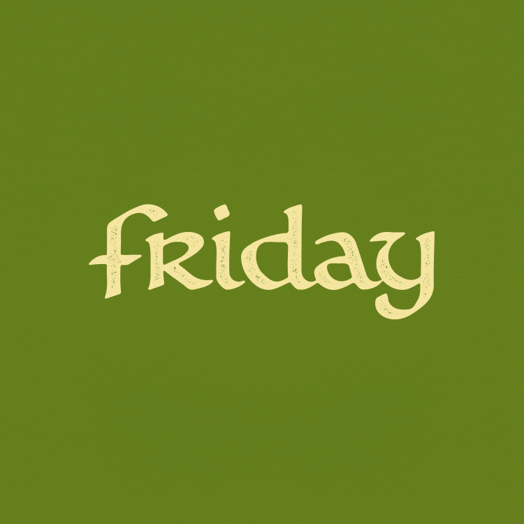 FRIDAY (boat logotype)