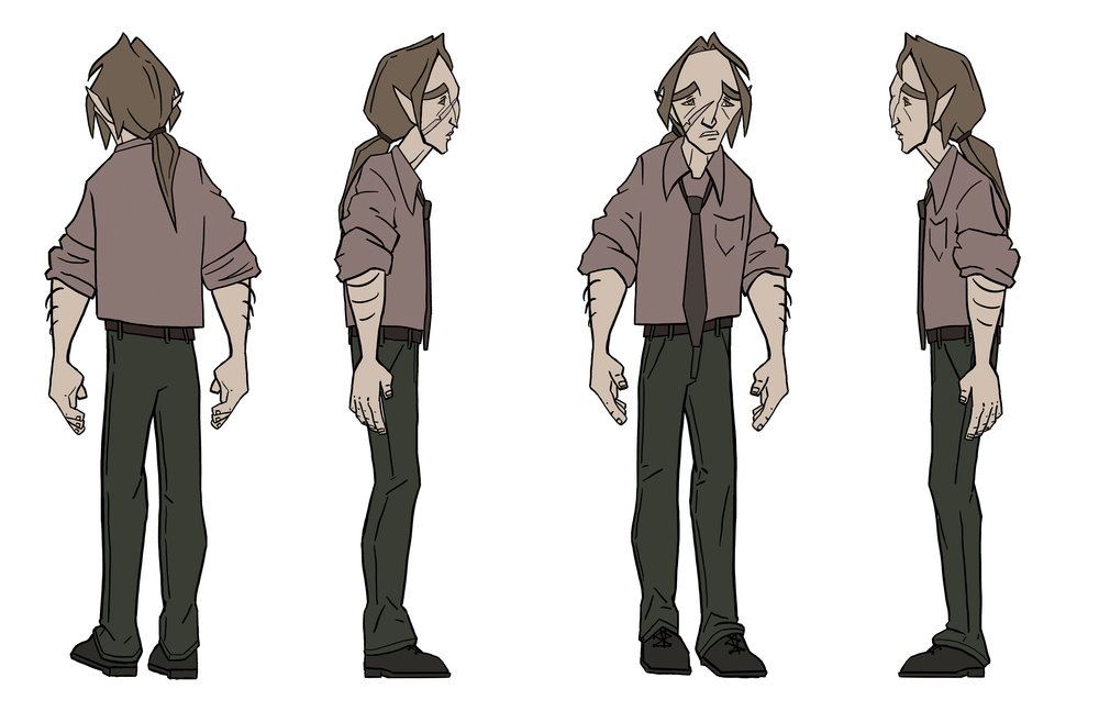 Above: main character turnaround and expression sheet