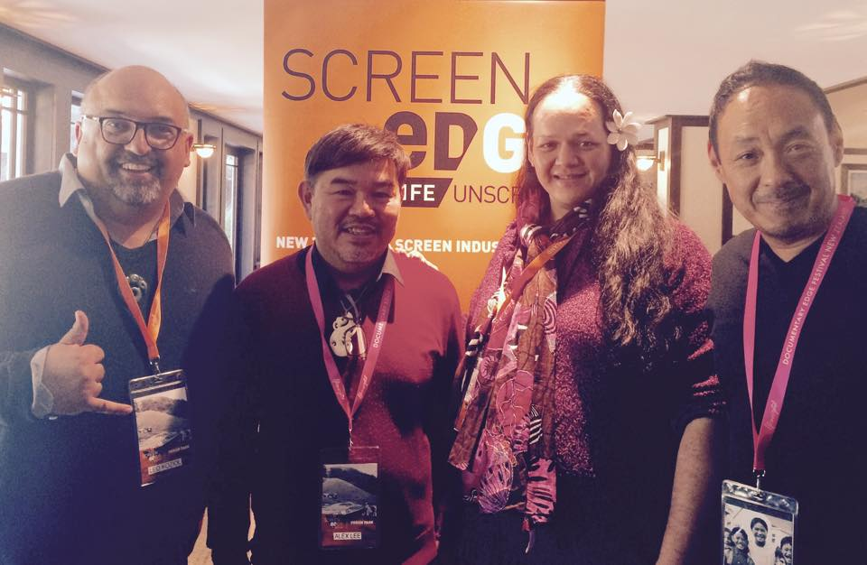 Leo Koziol (Wairoa Maori Film Festival), Alex Lee (Doc Edge), Mareva Leu (FIFO Tahiti) and Cory Tong (representing Hawaii International Film Festival).