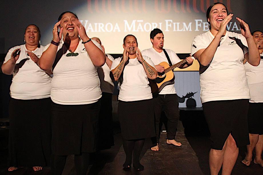 Te Rerenga Kotuku opened the night's celebration!