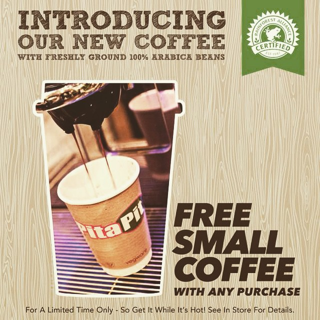 Fancy a #free #coffee today? #pitapituk #manchester