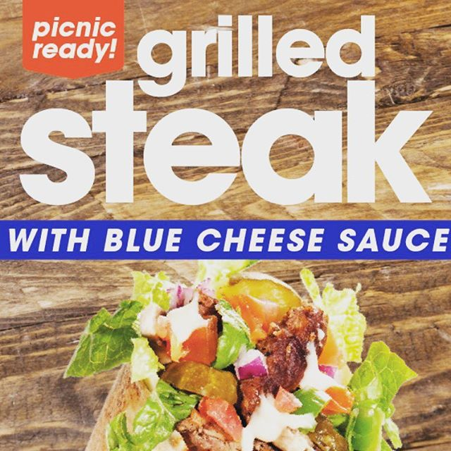 You need to try our #NEW Grilled Steak with Blue Cheese Sauce! It is Delicious! #LTO #Special #Lunch #hungry #Tasty