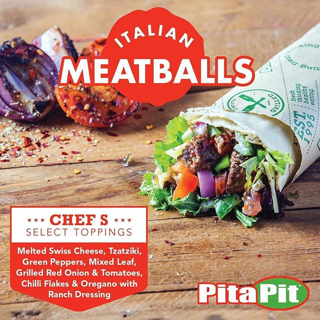 Try our chefs select toppings for the ultimate combination of flavours! #pitapituk