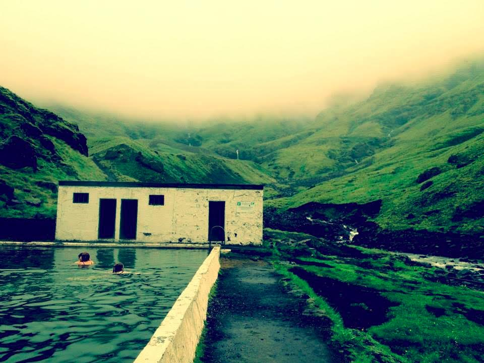 Seljavallalaug - a protected 25-metre outdoor pool in southern Iceland.