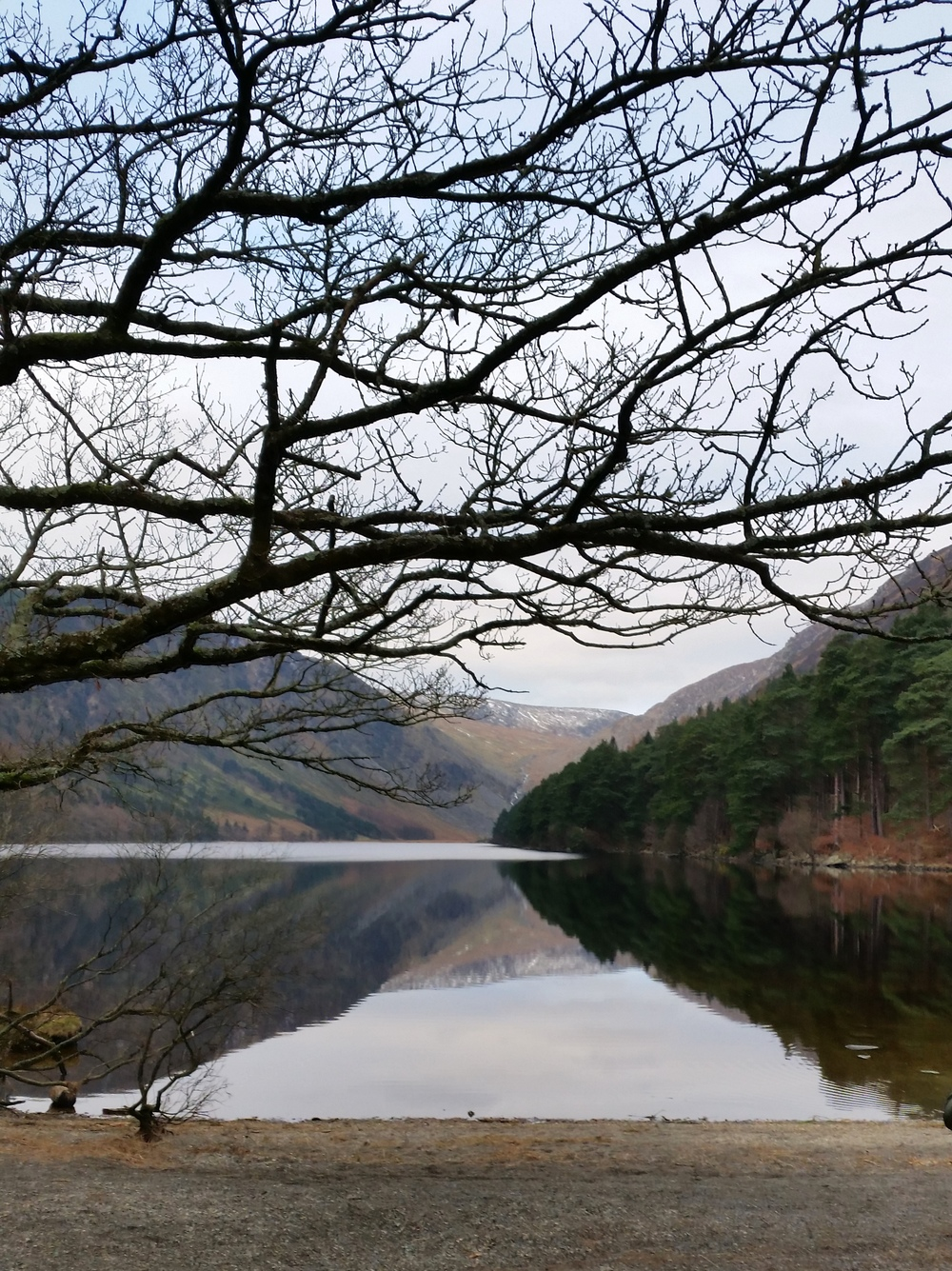 Upper lake at glendalough - county wicklow by joanna dacosta