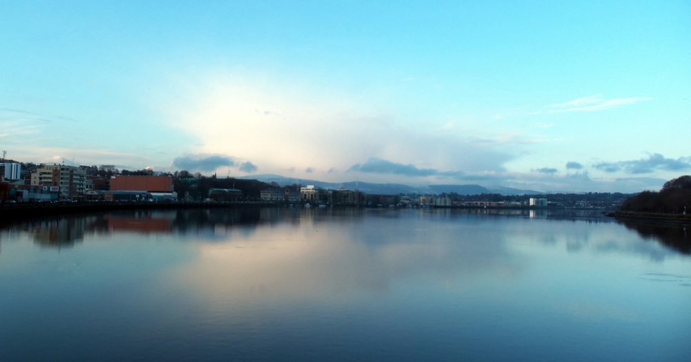 View from peace bridge in londonderry. by joanna dacosta 01/2015.