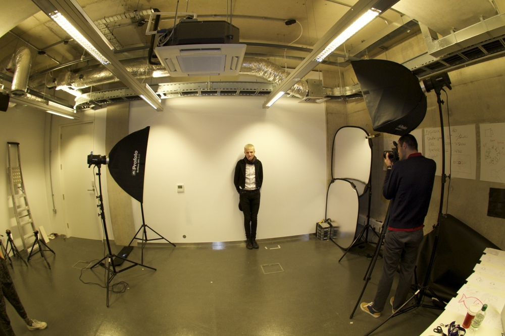 At the photography studio - Tom