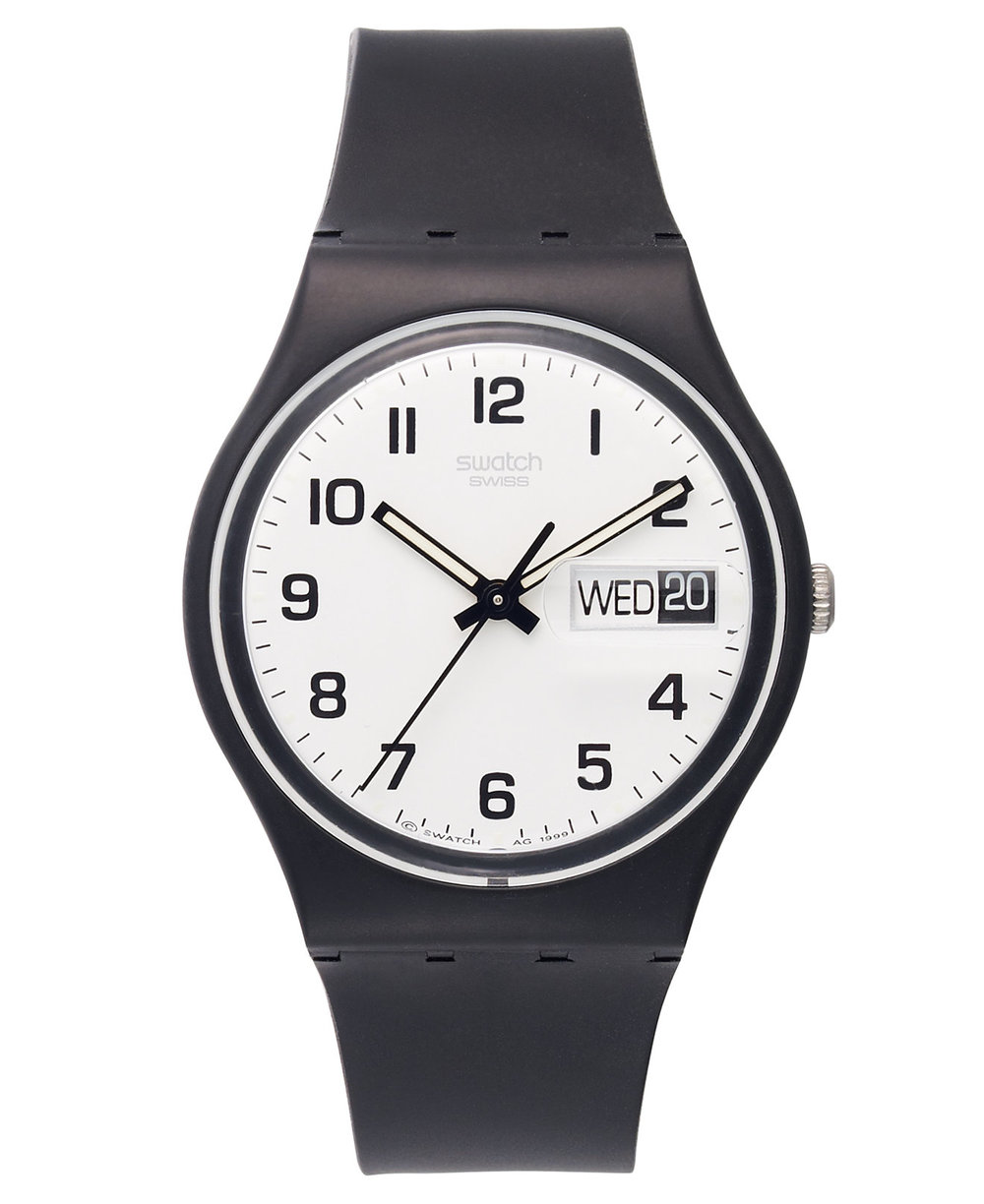 1983: Swatch introduces its first plastic Swiss quartz watch, marketing the line as affordable fashion items.
