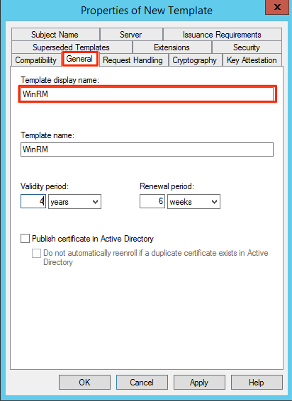 Winrm ssl certificate deployment via gpo and with no spaces had once a weird bug where on windows 2008 it would enroll a new certificate again and again if a space was in the display name yelopaper Images