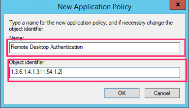 Rdp tls certificate deployment using gpo and provide a object identifier of 1361413115412 this will identify the certificate as one that can be used to authenticate a rdp server yelopaper Image collections