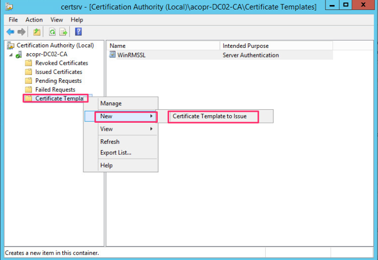 Rdp tls certificate deployment using gpo the certificate authority management console and select under the ca certificate template right click and select new certificate template to issue yadclub