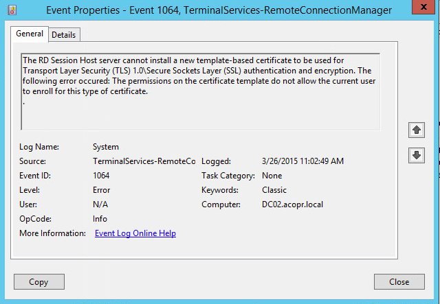 Rdp tls certificate deployment using gpo to make the certificate available for enrollment to the machines we go in to the certificate authority management console and select under the ca yelopaper Choice Image