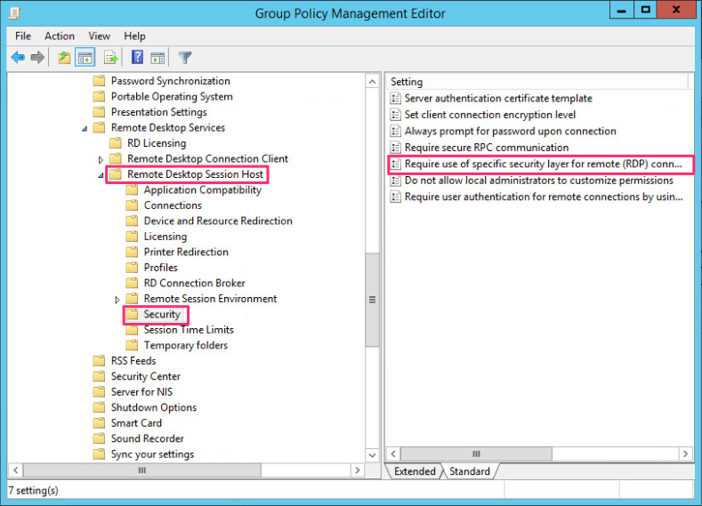 Rdp tls certificate deployment using gpo to have the server use tls 10 i know tls 10 is not the most secure we select require use of specific layer for remote rdp connection yelopaper Image collections