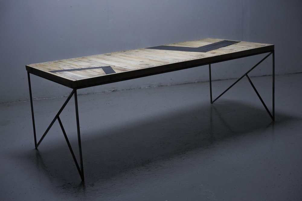above: table collaboration w. designer Pablo Munoz (metalwork), and myself (tabletop)