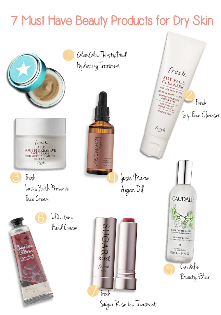 7 must have beauty products for dry skin