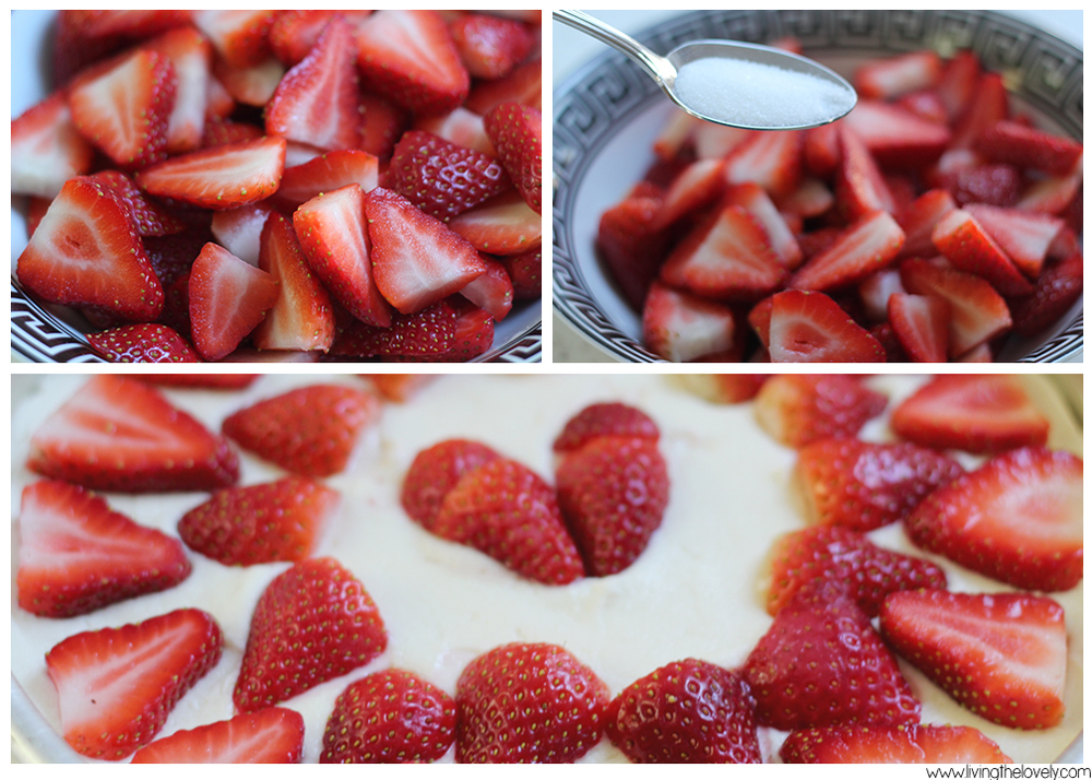 strawberry valentines day cake | www.livingthelovely.com