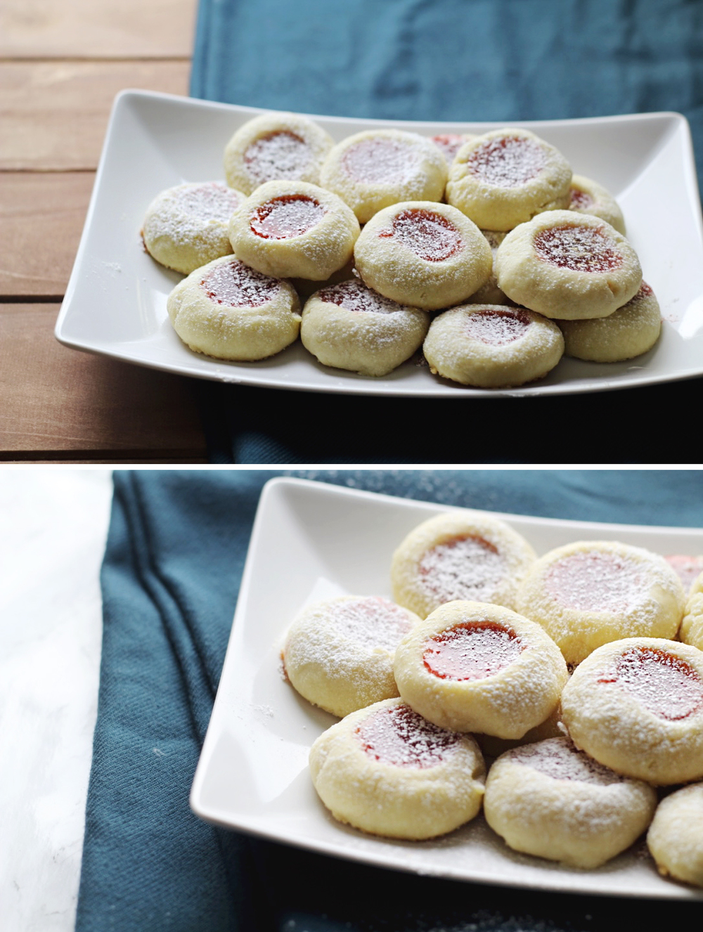 Super soft thumbprint butter cookies living the lovely for Easy quick christmas baking recipes