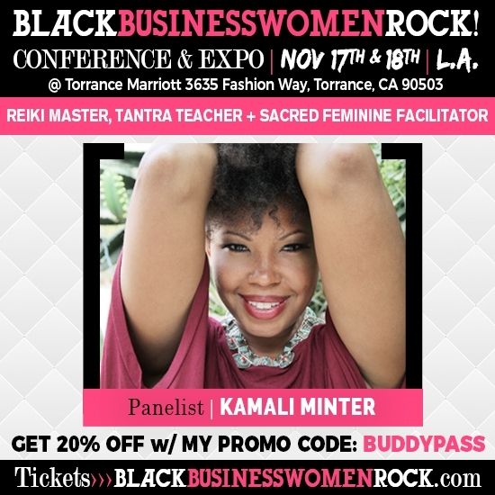 I'm excited about offering entrepreneurial women of color, simple ways of re-connecting with their bodies, so they have the energy and inspiration to fuel their businesses! There's lots of good info, opps, and support at this conference, join us if you can.