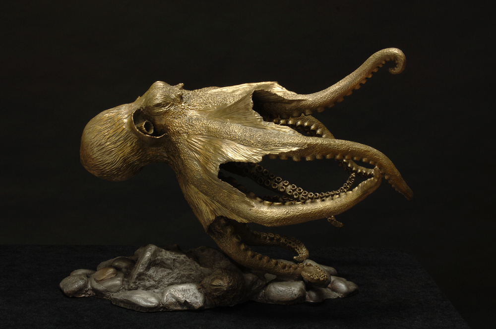 Swimming Octopus 1 Sculpture