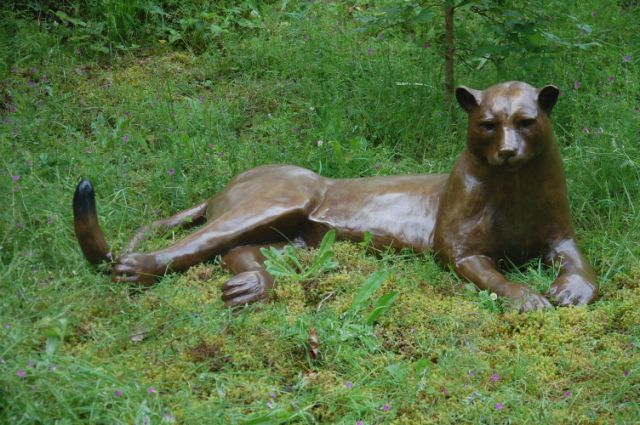 Languid Cougar Sculpture