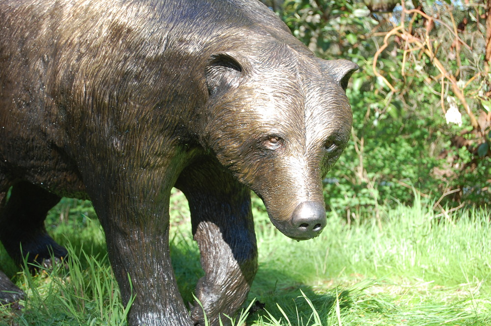 Grizzly Bear Life-Sized Sculpture