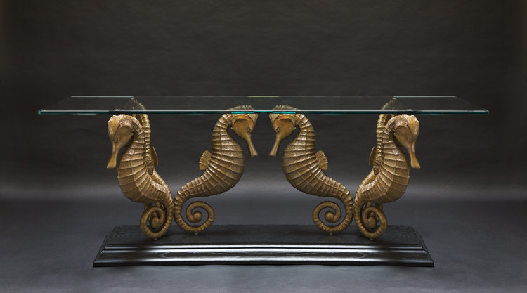 Fall Studio News Paul Harder Bronze Works - Seahorse coffee table