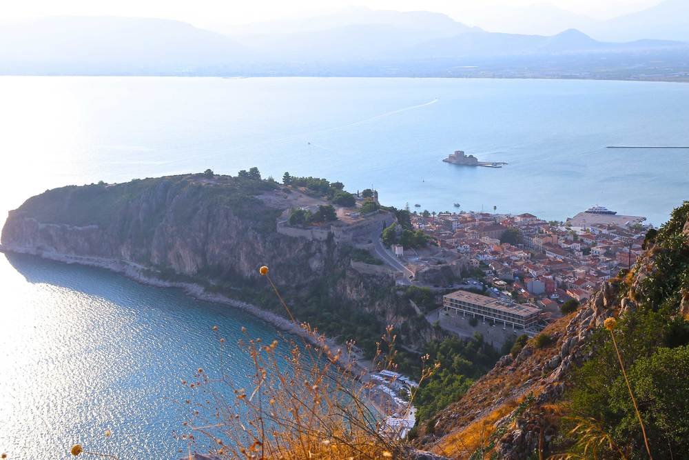 View of Nafplio town from Palamidi Castle