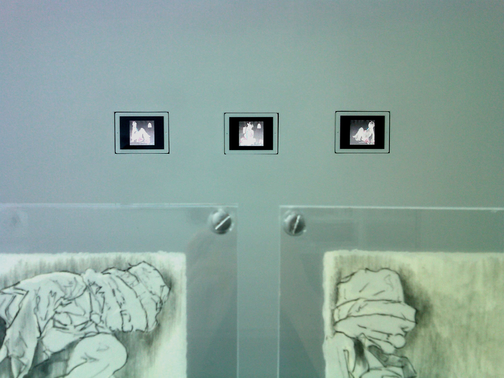 Wax drawings and 3 loop animations on ipad.  BosiDamjanovic Gallery NYC   2011