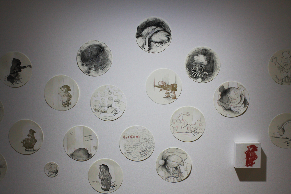 Little Gloating Eve, installation view, sketches  Effearte. Sept. 2014