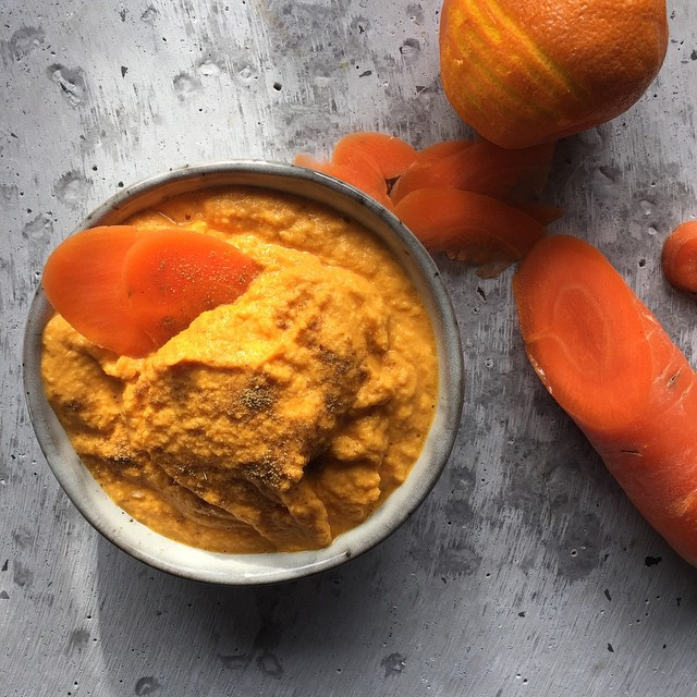 carrot cumin orange dip