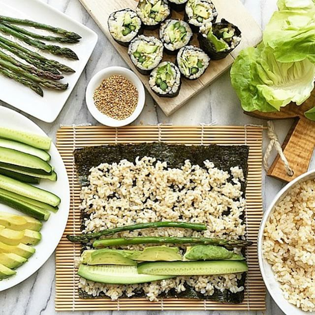 Beautiful_shades_of_green_via__thedelicious___I_am_obsessed_with_brown_rice_sushi__You_can_throw_any_veggies_inside_and_it_s_so_yummy__My_favourite_recently_is_avocado_and_cucumber_____What_s_yours__www.nicolemaree.com_by_heynicolemaree.jpg