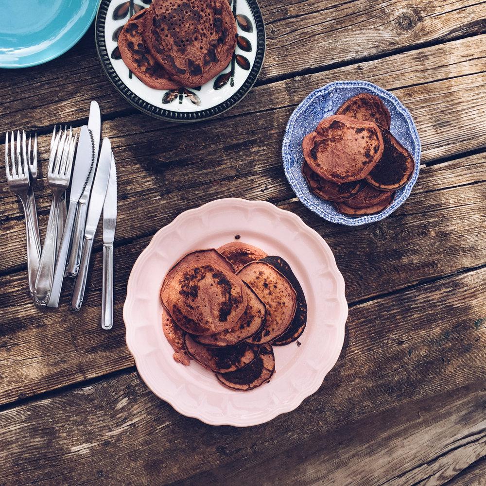 pink pancakes - les petites pestes