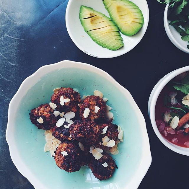 Eggplant and Cauliflower' Meatballs' - EGGPLANT+ CAULIFLOWER + RED BELL PEPPER+ SPICES