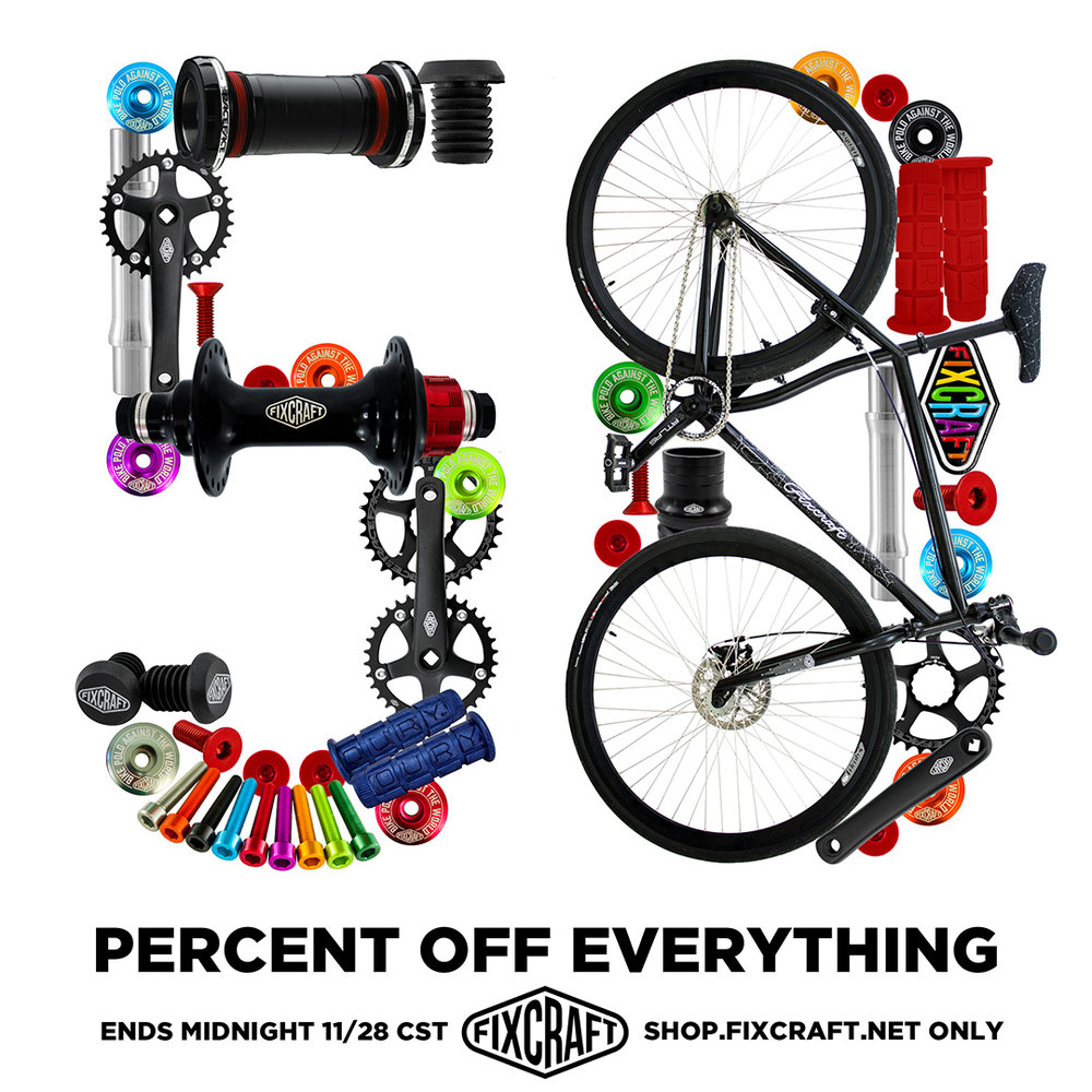 Fixcraft Bike Polo Equipment Black Friday Campaign.