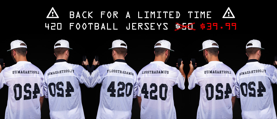 Flosstradamus Football Jersey Flash Sale.