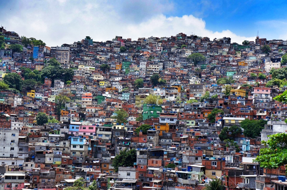 THE FAVELAS OF RIO: WHERE PEOPLE COLOURFULLY PAINT THEIR HOMES AND THE EXPRESSION OF THE INDIVIDUAL ADDS TO THE COLLECTIVE