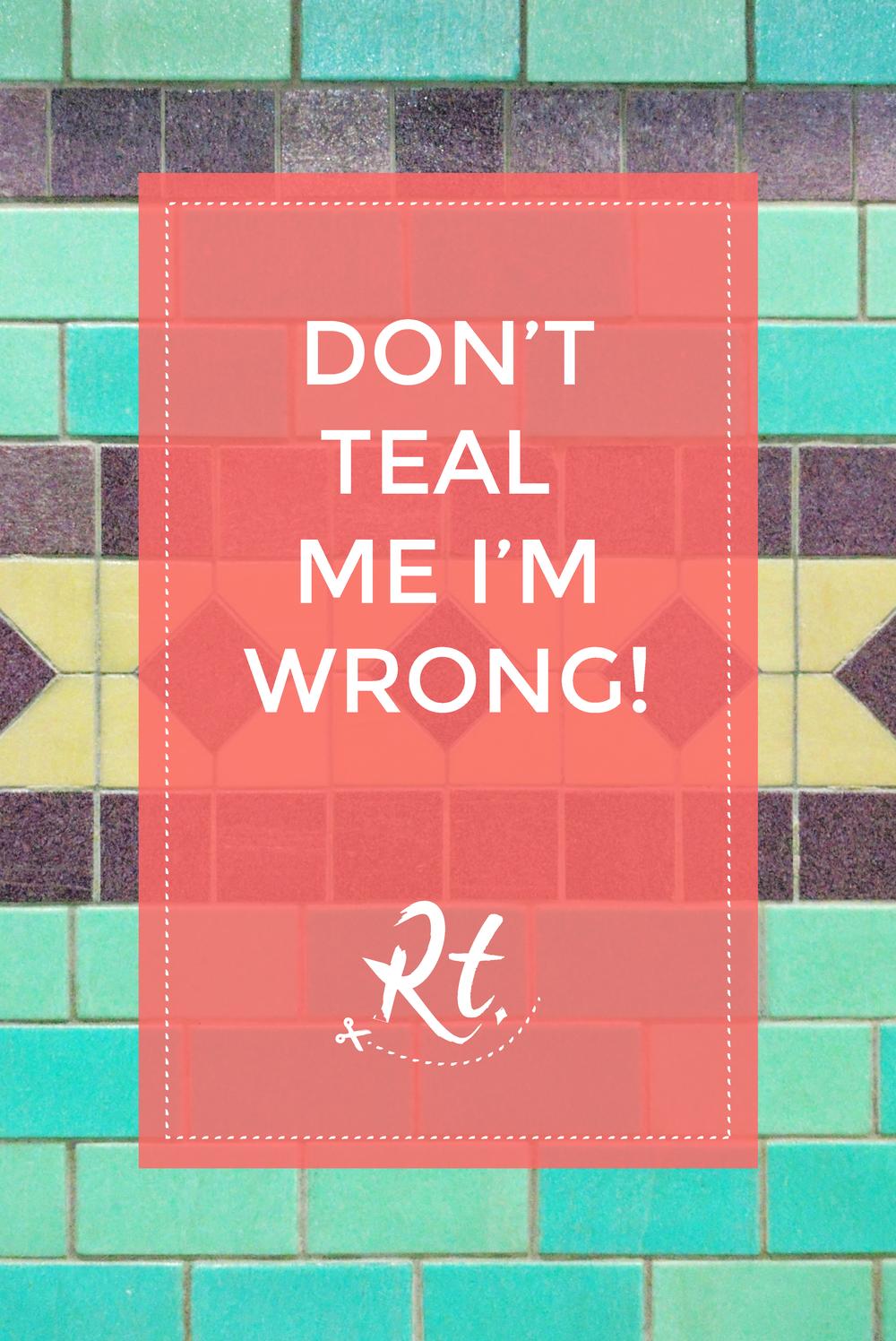 Don't teal me I'm wrong, Aldgate tube station tiles