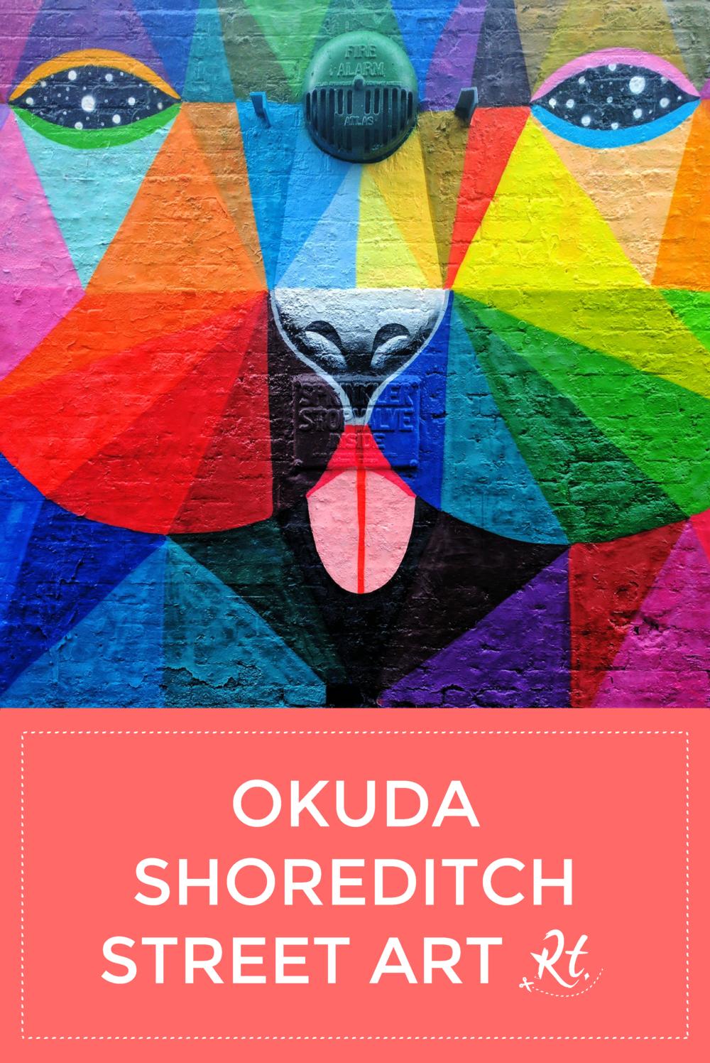 Okuda Shoreditch Bear Street Art