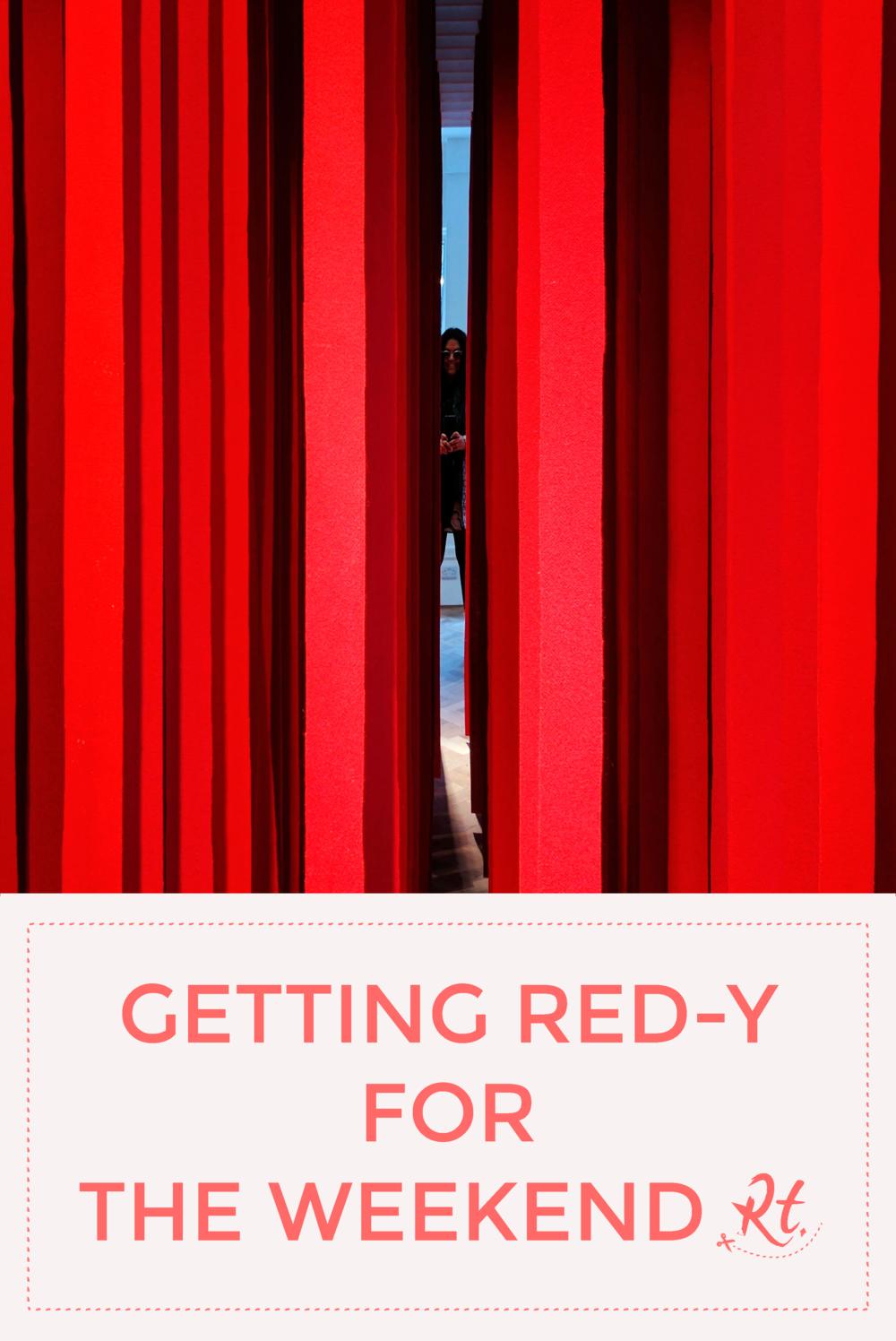 Feilden Clegg Bradley Studios red installation