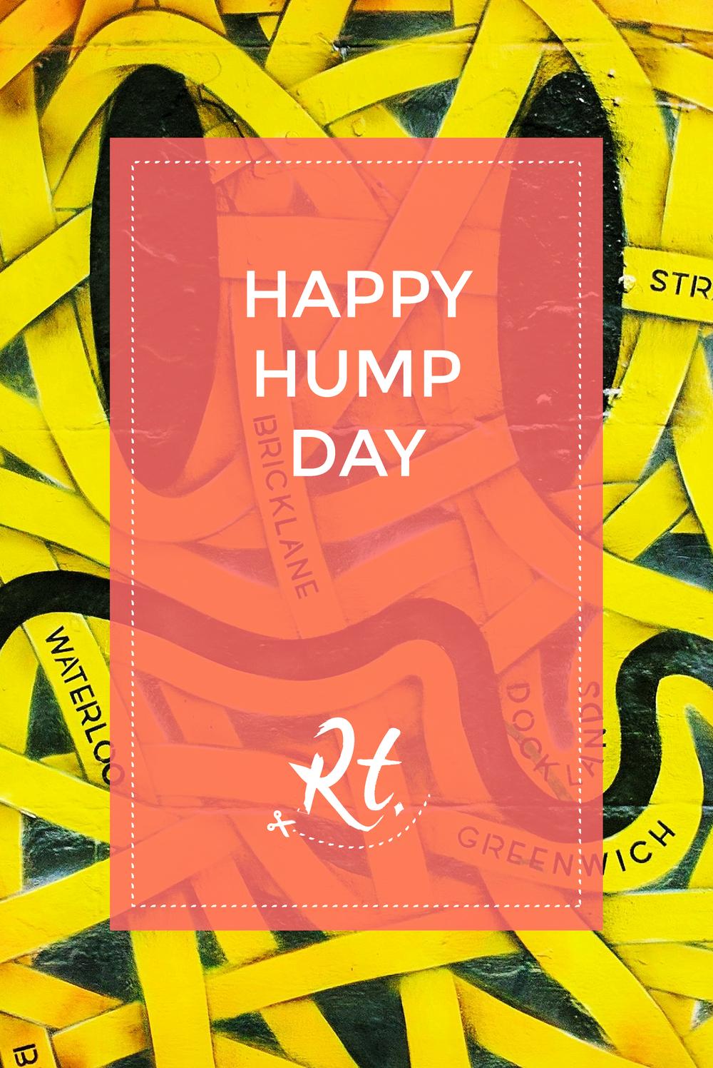 Happy Hump Day by Rosh Thanki, Otto Schade London smiley, street art at Brick Lane