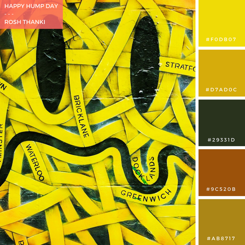 Colour Palette, Happy Hump Day by Rosh Thanki, Otto Schade London smiley, street art at Brick Lane