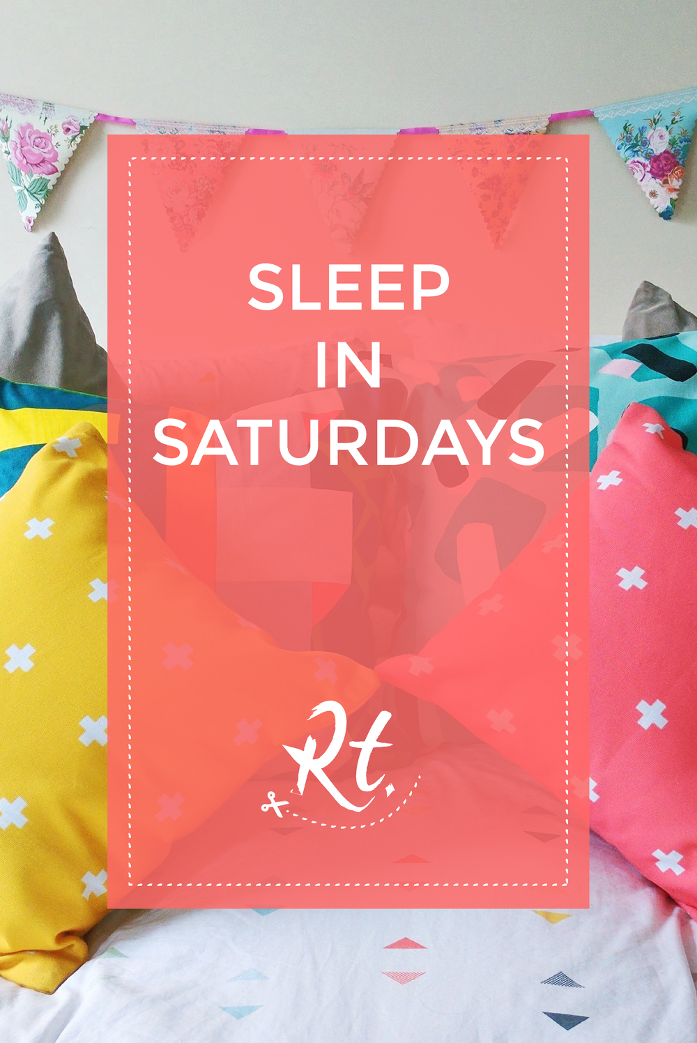 Sleep in Saturdays by Rosh Thanki, brightly coloured next bed sheets, MADE.com, H&M home cushions