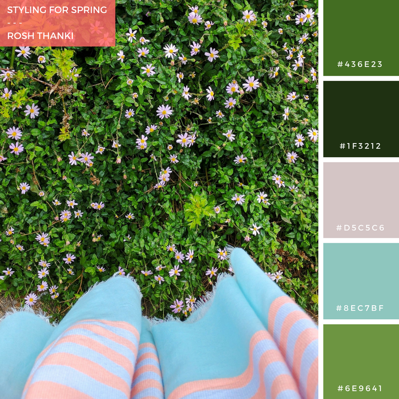 Colour Palette, Styling for Spring by Rosh Thanki, Oliver Bonas pastel scarf