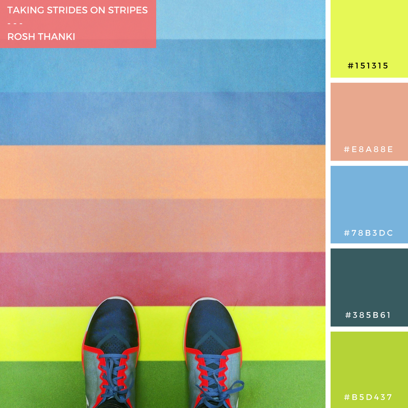 Colour Palette, Taking Strides on Stripes by Rosh Thanki, from where I stand photo at the National Army Museum