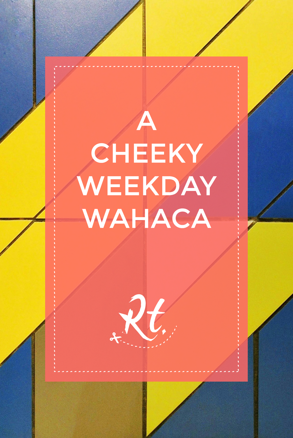 A Cheeky Weekday Wahaca by Rosh Thanki, colourful tiles