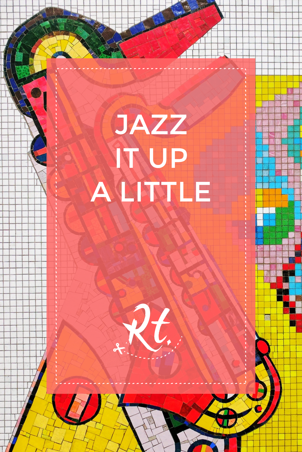 Jazz It Up A Little by Rosh Thanki, Eduardo Paolozzi saxophone tiles at Tottenham Court Road station