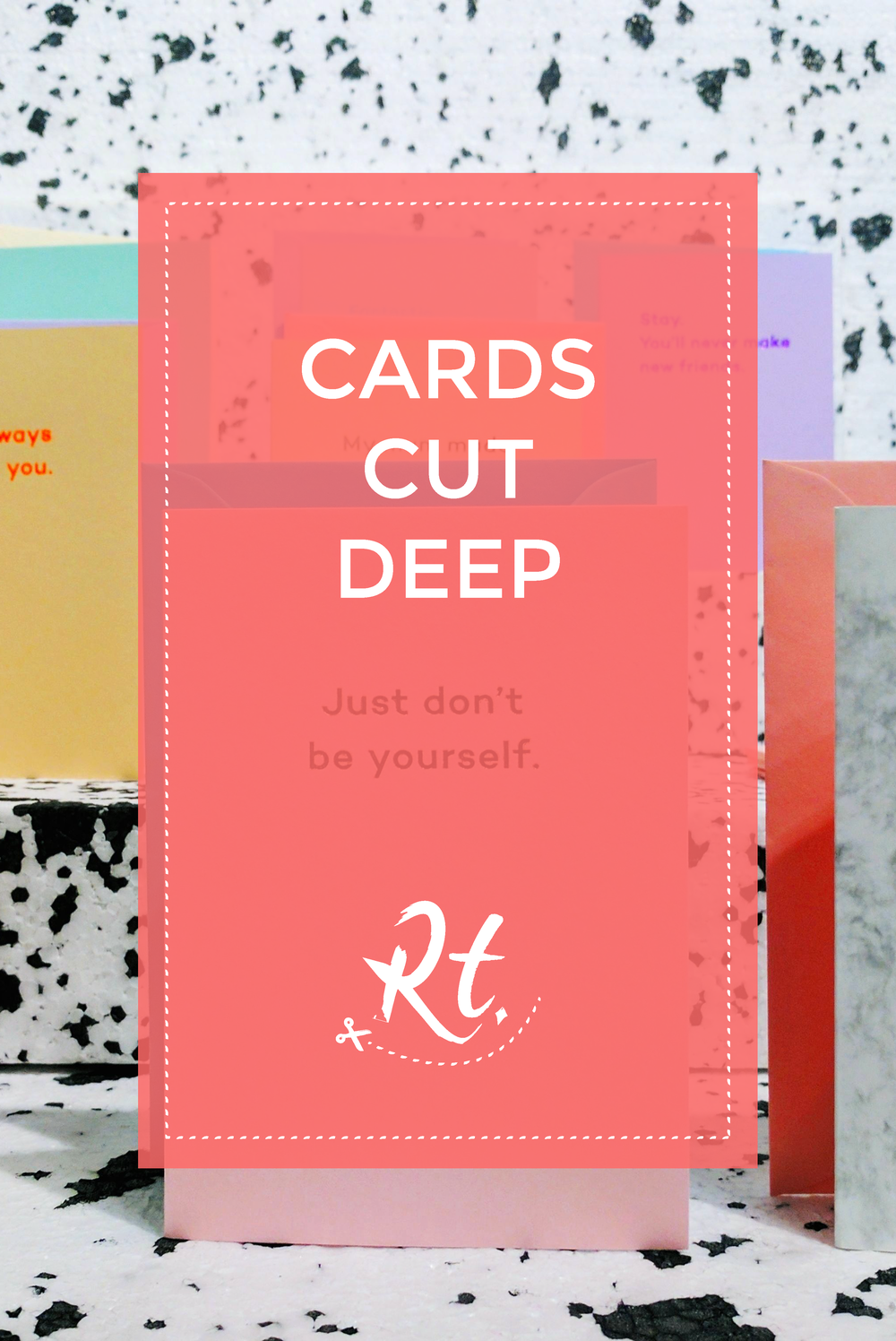 Cards Cut Deep by Rosh Thanki, Mean Mail stationery card launch at Exposure London