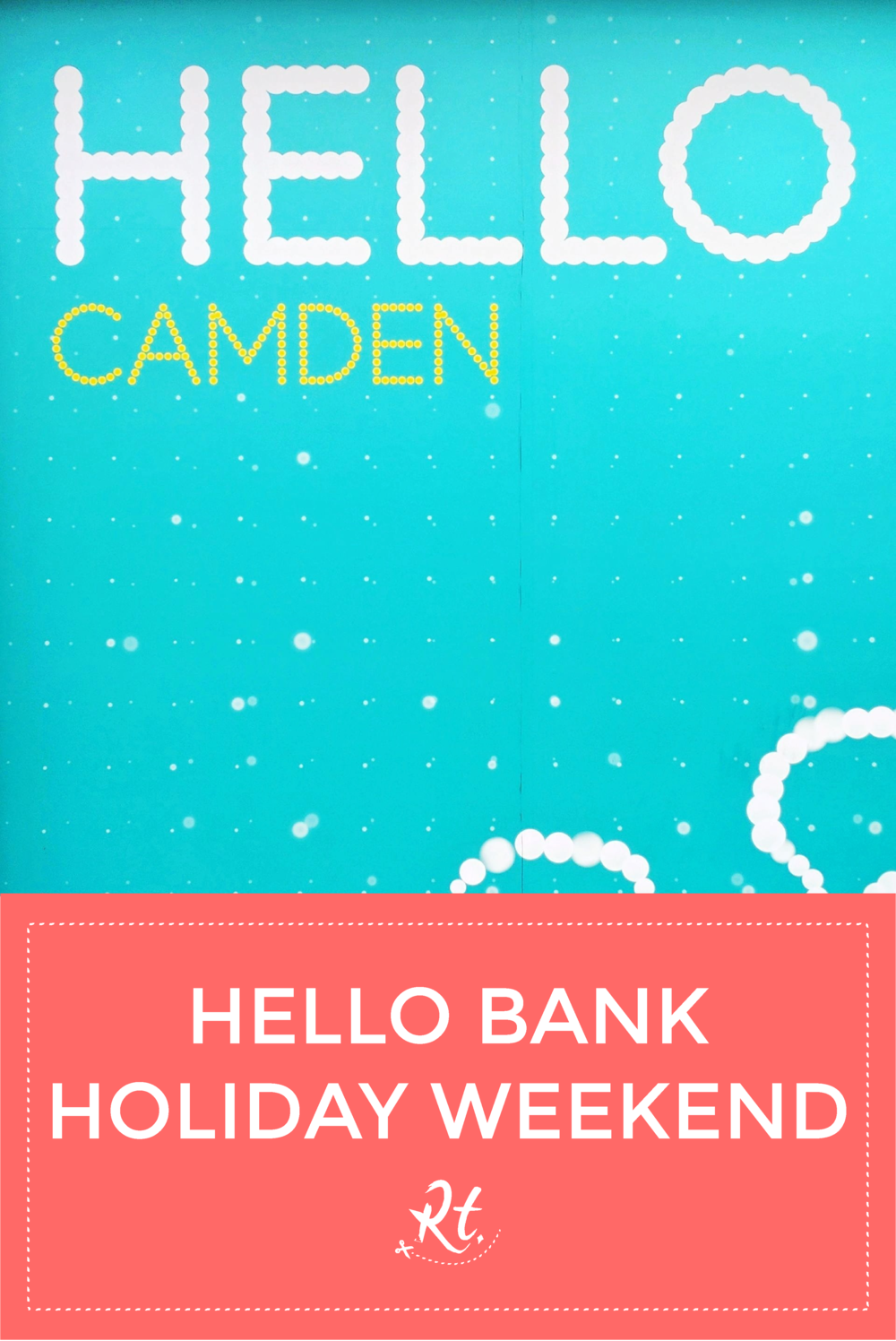 Hello Bank Holiday Weekend by Rosh Thanki, EE Advert in Camden Town