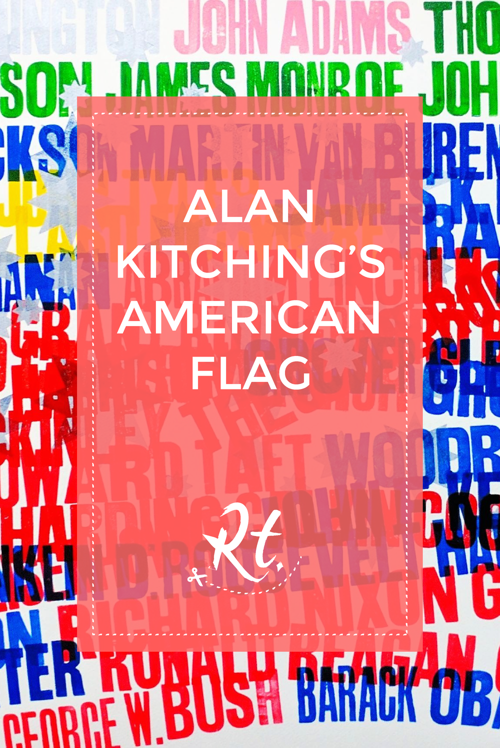 Alan Kitching's American Flag by Rosh Thanki, letterpress flag made from typography